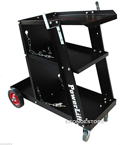KCHEX>UNIVERSAL WELDING CART MIG MAG ARC TIG MACHINE WELDERS 3 LEVEL NEW>Industrial powder coating resists chips and rust Built in cylinder rack and storage tray Max Weight capacity :150 lbs Rate