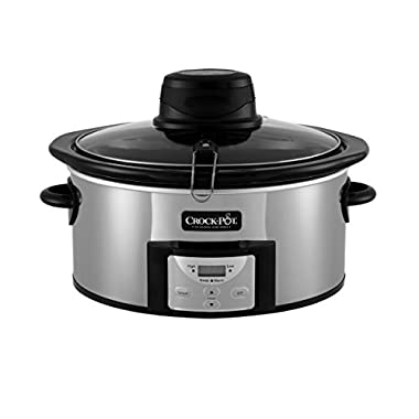 Crock-Pot 6.5Qt Polished Stainless Oval Programmable Digital Slow Cooker w/Auto Stir System SCCPVC650AS-P