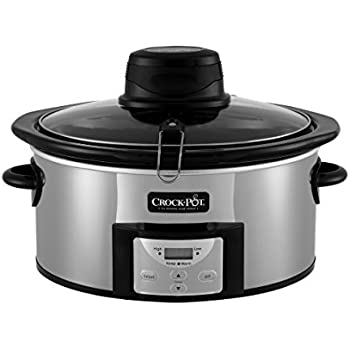 Crock-pot SCCPVC650AS-P Stainles 6.5 Quart Digital Slow Cooker with iStir Stirring System, Polished Stainless Steel, Qt