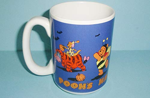Pooh39;s Happy Halloween Mug with Pooh Eeyore Tigger Rabbit Piglet Kanga and Roo in Costumes Vintage Ceramic Disney Mug