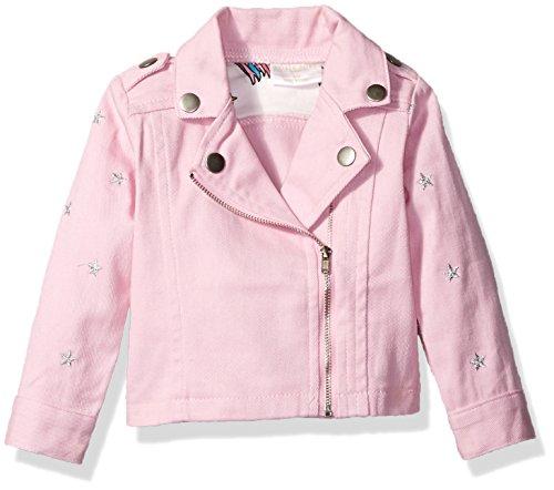 Rosie Pope Baby Girls' Lurex Star Moto Jacket, Pink 24M