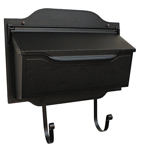 Special Lite Products SHC-1002-BLK Contemporary Horizontal Mailbox, (Special Lite Contemporary Wall Mount)