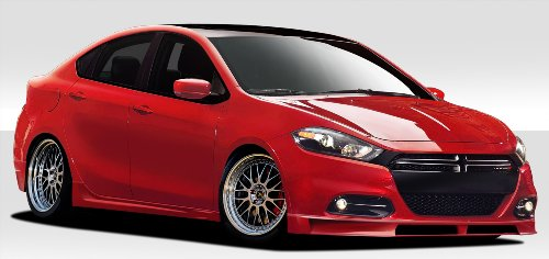 Duraflex ED-YPW-837 Racer Body Kit (dual exhaust) - 4 Piece Body Kit - Fits Dodge Dart (Body Kit Racer Kit)