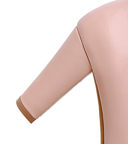 Alto Flats Rosa Tacco Punta VogueZone009 Ballet Luccichio Tirare Donna Tonda Puro XUzqvwBxAq