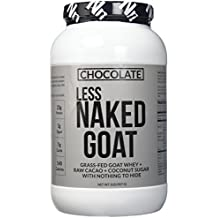 Chocolate Less Naked Goat - 100% Grass Fed Goat Whey Protein Powder from Small-Herd Wisconsin Dairies, 2lb Bulk, GMO Free, Soy Free. Easy to Digest - All Natural - 23 Grams of Protein - 25 Servings