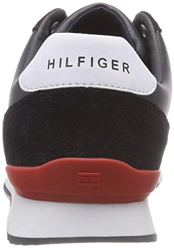 Mix Hombre midnight Para Azul Material Zapatillas Tommy 403 Runner Leather Hilfiger qzx6wt0WZA