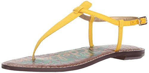 (Sam Edelman Women's Gigi Flat Sandal, Bright Yellow Silk Dupioni, 9.5 M US)