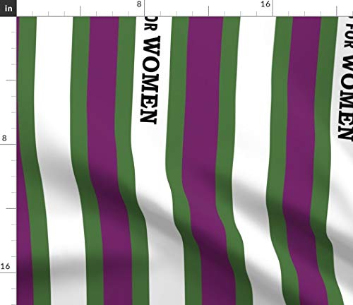 Spoonflower Suffragette Fabric - History Suffragette Sash History Patriotism Suffragette Suffrage Vote Politics Women Suffragist by Fentonslee Printed on Performance Piqué Fabric by The Yard (Pique Knit Advantage)
