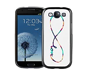 Pop Samsung Galaxy S3 Case Durable Soft Silicone TPU Diy Beautiful Infinity Love Galaxy Black Mobile Phone Case Cover Kimberly Kurzendoerfer