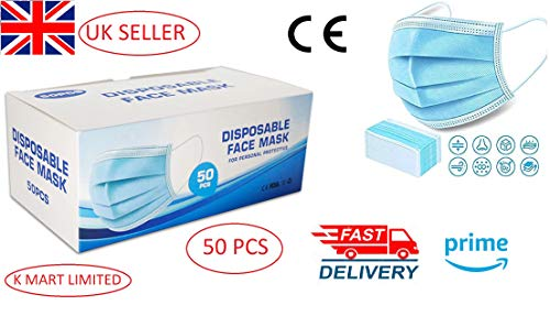 K-MART Surgical 3 Layers Hygienic Face Masks - 50 Pcs