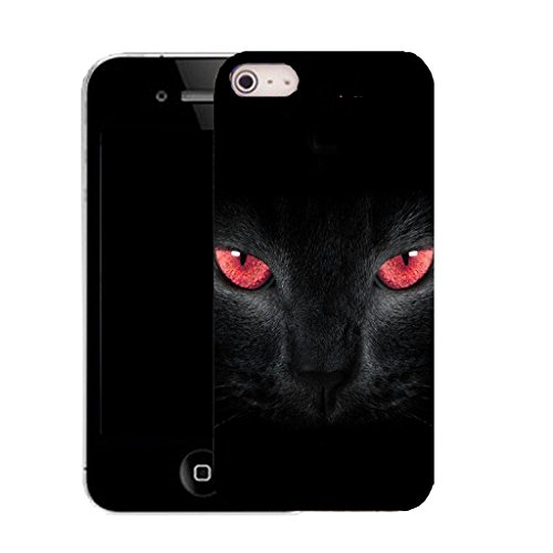 Mobile Case Mate IPhone 5S clip on Silicone Coque couverture case cover Pare-chocs + STYLET - panther eyes pattern (SILICON)