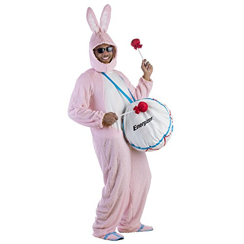 Bunny Costume For Adults (Adult Energizer Bunny Mascot Costume With Soft Drum By Dress Up America - One size Fits Most)