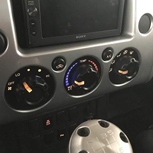 AJT DESIGN Injection Fob Case Cover Toyota FJ Cruiser 2007 Black Red Screws
