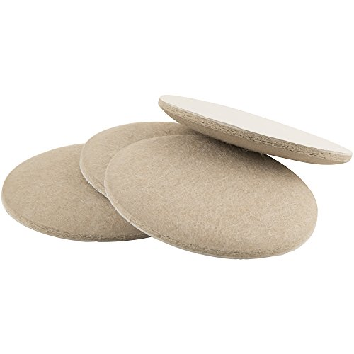 SoftTouch 4715995N Extended Wear Self Stick Felt Furniture Pads for Hard and Uneven Surfaces 3-1/2 Oatmeal 4 Piece