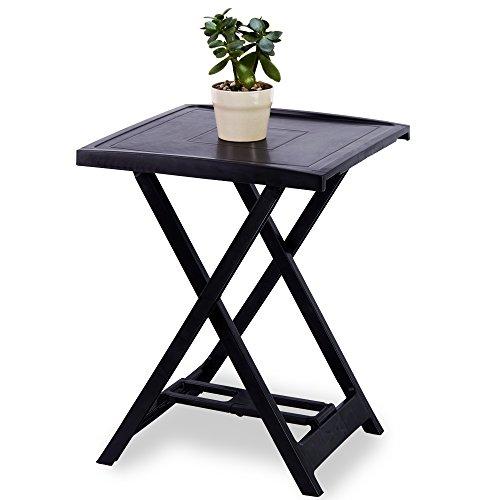 Beistelltisch Klapptisch.Beistelltisch Klapptisch Balkontisch Garten Terrassen Campingtisch Kunststoff Picknicktisch Tisch Pflanztisch