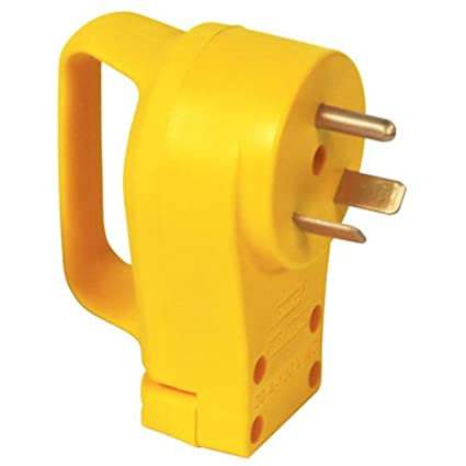 30 Amp Rv Plug >> Camco Heavy Duty Rv 30 Amp Powergrip Male Replacement Plug Durable And Safer Plug With An Easier Grip 55245