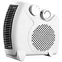 Enamic UK Happy Home Laurels Fan Heater Heat Blow || Silent Fan Room Heater (White) || with 1 Season Warranty || M-01