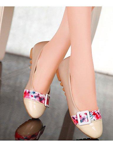 cn35 eu36 de punta us5 5 sintética Beige talón Flats plano uk3 mujer de zapatos piel Beige PDX beige redonda 5 Casual azul Uax8d1q1w