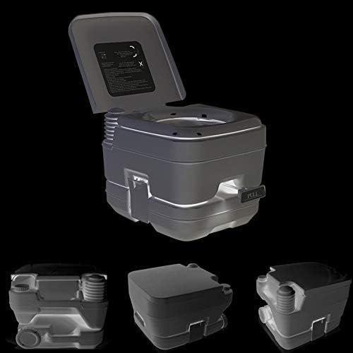 fengicon Retrete De Camping Avanzado Toilette Camping Portable 280lbs con Depósito De Residuos De 2,6 Galones Portátil para El Inodoro del Coche