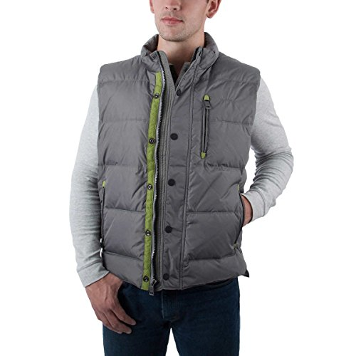 (Orvis Men's Essex Down Vest (Grey,)