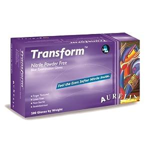 "Aurelia Transform Nitrile Glove, Powder Free, 9.5"" Length, 3.2 mils Thick, X-Large (Pack of 2000) 2"