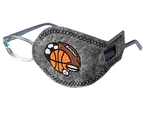 Eye Patch - Left Coverage Child Sports Balls Pocket Eye Patch by Patch Pals from Patch Pals