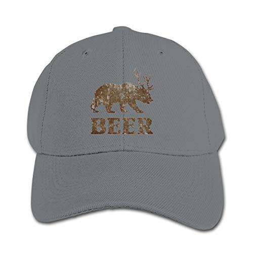 Wufive Bear Deer Classic Kids Unisex Hats One Size Gray ()