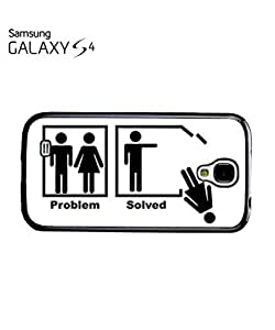 Problem Solved Funny Mobile Cell Phone Case Samsung Galaxy S4 White