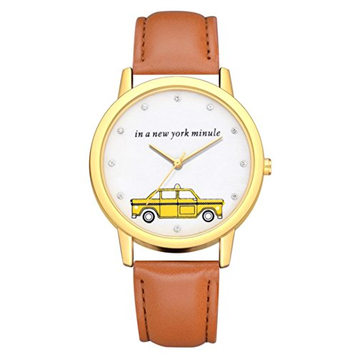 BEUU 2018 Car Gold Dial Leather Strap Watch New Wholesale Price Luxury Fashion Band Analog Quartz Round Wrist Watches Watch Wristwatch Fashion Watches Leather Luxury Mens Women'S Casual Steel (E)
