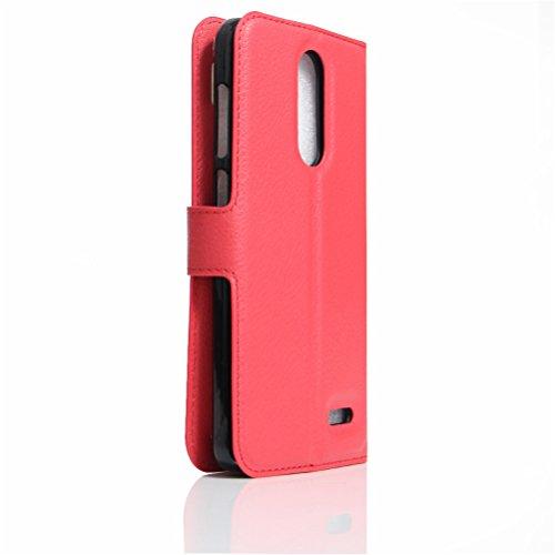 Funda ZTE Grand X4,Manyip Caja del teléfono del cuero,Protector de Pantalla de Slim Case Estilo Billetera con Ranuras para Tarjetas, Soporte Plegable, Cierre Magnético B