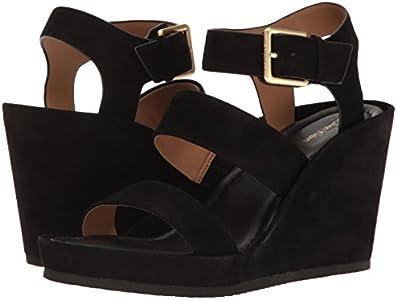 Calvin Klein Women's Hailey Wedge Sandal, Black, 8.5 M US