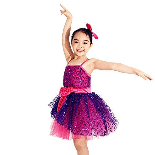 [MiDee Stage Dance costume Ballroom Dancing Dress Professional Ballet tutu (SC, Multi Color)] (Dance Costumes Uniform)