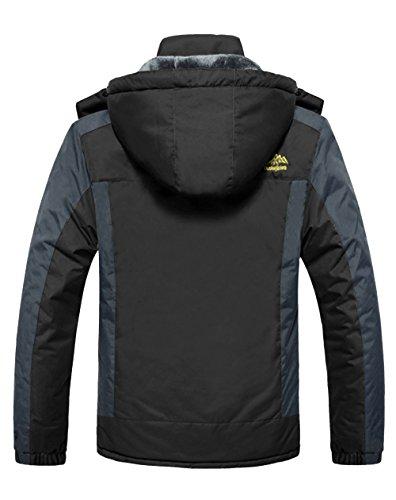 monta capa capucha hombres chaqueta a exterior negro con lluvia de rompevientos impermeable para 4HOW AtUqSw
