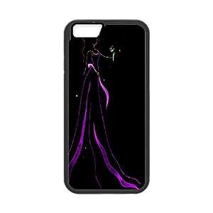 IPhone 6 Case Megara Ribbon Art,pink Princess, Ribbon Art [Black]