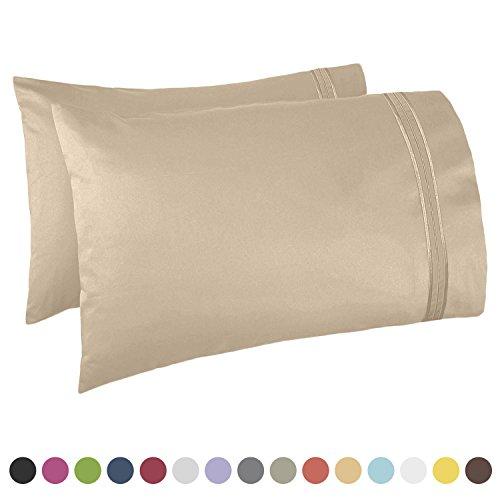 Nestl Bedding Premier 1800 Pillowcase - 100% Luxury Soft Microfiber Pillow Case Sleep Covers - Hypoallergenic Sleeping Encasements - King Size (20