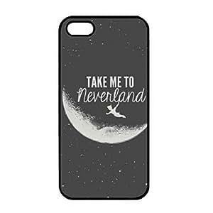 iPhone 5(S) TPU Hardshell Peter Pan funda Take Me To Neverland Phone Cover Back Cover Skin