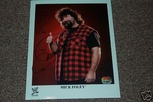 Mick Foley Autographed 8x10 Photo Mounted Memories Coa Autographed 8x10 Coa Mounted Memories