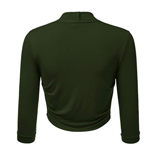 Bolero Taille Cardigan Travail Front Plus Bolros Vert Cropped Open Vtements Shrug de Femme Bringbring gtq5wwxaZ