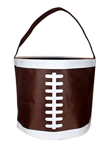 Personalized Toy, Easter, Halloween Round Basket Bag - Storage Bucket (Football-BLANK)