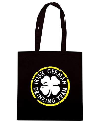 Speed Shirt Borsa Shopper Nera BEER0079 IRISH GERMAN DRINKING TEAM