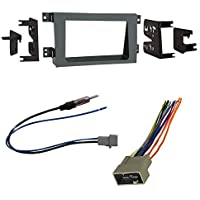 Car Radio Stereo CD Player Dash Install Mounting Trim Bezel Panel Kit + Harness For Honda Ridgeline
