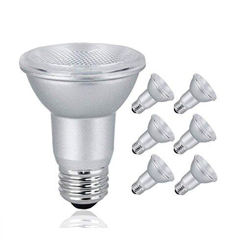 LED PAR20 Dimmable Flood Light Bulb, 7 Watt (50W Equivalent), 500 Lumens, 3000K Soft White, 120V, Indoor/Outdoor, Energy Star Certified, UL Listed (6 ()