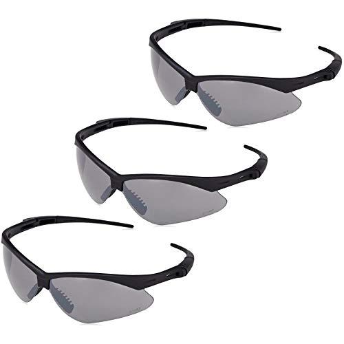 (AmazonBasics Anti-Scratch Safety Glasses, UV-Resistant, Smoke Mirror Lens, 3-Count)