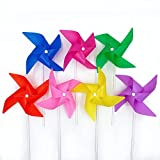 KathShop 20pcs/lot Colorful Plastic Windmill Toys Pinwheel Self-Assembly Windmill ren's Toy Home Garden Yard Decor Outdoor Gifts
