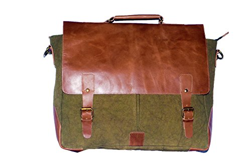 Laptop Messenger & Briefcase 17.3'' Bag, Office Bag for Men/Womens Shoulder Bag fit for Macbook/Dell/Hp/Lenovo/Acer/Asus Laptop (17.3 inch, Army Green) by Mythical Craft (Image #4)