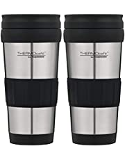 THERMOcafe by Thermos Foam Insulated Travel Tumbler - 2 Pack, Stainless Steel, 3962C4AUS