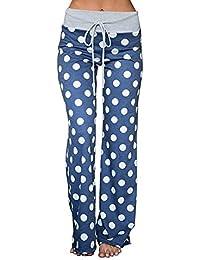 Women's Stretch Cotton Pajama Lounge Pants Polka Dot Sleepwear