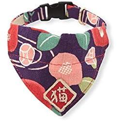 Necoichi Kimono - Collar Bandana para Gato, Púrpura