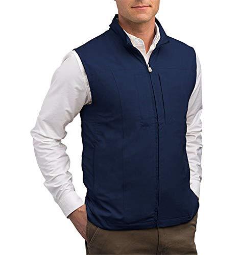 SCOTTeVEST RFID Travel Vests for Men with Pockets - Rugged Travel Clothing (NVY XLT)