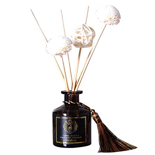 (AckfulReed Oil Diffusers with Natural Sticks, Glass Bottle and Scented Oil 50ML (D))